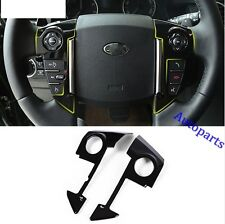 Gloss Black Steering Wheel Cover Frame trim For Land rover Discovery 4 LR4 2009+