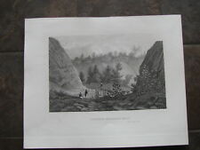 1834 ORIGINAL View of Passic River, New Jersey