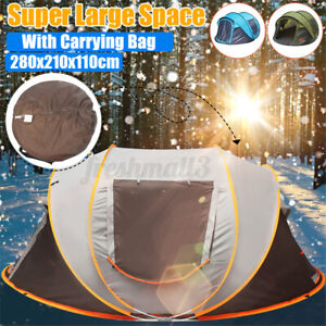 5-8 Person Waterproof Tent Automatic Instant Open Shade Camping Family Hiking.