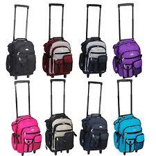 Everest Deluxe Wheel Backpack Rolling 18