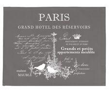 """Platzdeckchen, Untersetzer, Tischset,Grau,Baumwolle,Aufschrift """"Paris"""""""