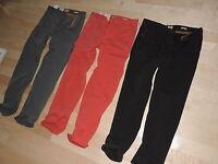 Hugo Boss Casual Pants 100% Cotton Gray Red Black Regular Fit 30 31 32 33 34 36