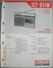 SONY ICF-D11W 2-Band Radio Service Manual