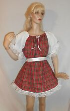 ADULT SISSY BABY SWEET PLAID SCHOOLGIRL DRESS & WHITE PANTIES