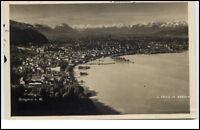 Bregenz Bodensee Vorarlberg Postkarte 1929 gelaufen Gesamtansicht Hafen See