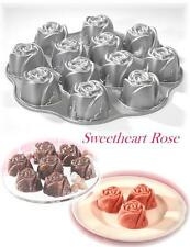 Nordicware Valentine SWEETHEART ROSE 12 MINI Roses Cakelete Muffin CAST Pan *NEW