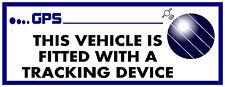 Gran 180x60mm dispositivo de rastreo ajustada Impreso Etiqueta Auto Bus Caravan