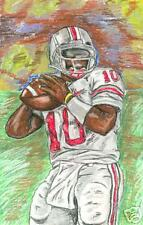 Troy Smith Ravens Original Painting Heisman OSU