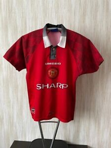 Manchester United Vintage Umbro 1996/1998 Football Jersey Shirt Size XS