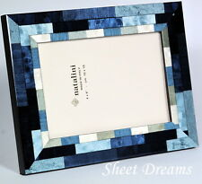 Natalini Mira Blu Hand Made Italy Marquetry Blue White Photo Picture Frame New