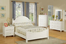 4 Piece Kids Bedroom Sets For Girls Boys Furniture Twin Headboard Dresser White