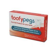 1X Toofypegs Emergency Dental Repair Kit 4 Crowns/Fillings