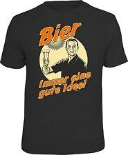 Fun T-Shirt Bier - Immer eine gute Idee Shirt 4 Heroes Geschenk geil bedruckt