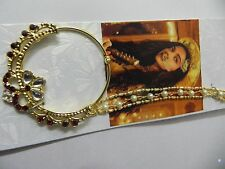 Indian Bollywood Traditional Goldtone Nose Ring Wedding Bridal Nath Jewelry