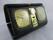 Kenton viaje radio alarma despertador Automatic con manual de instrucciones vintage Rare