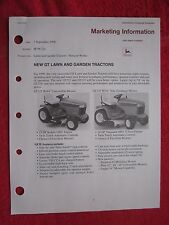 1998 JOHN DEERE NEW GT LAWN & GARDEN TRACTORS 10 PAGE DEALER MARKETING INFO