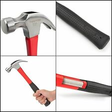 16oz TEKTON 30123 High Strength Jacketed Fiberglass Claw Hammer Impact Resistant
