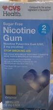 CVS Nicotine Gum 2 mg. Original Flavor 50 PIECES . New.  EXP 9/20