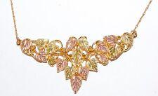 Stunning Landstrom's 10k Black Hills Gold 18 Leaf Pendant Necklace