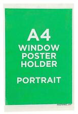 A4 Poster Window Display Frame Clear Self Adhesive Portrait Reuseable