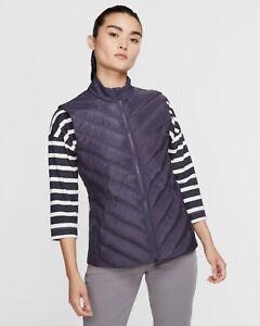 Nike Women's Aeroloft Repel Vest Gilet Purple Sz Medium AV3706-015