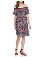 Lucky Brand Off-The-Shoulder Printed Dress. Size XL.