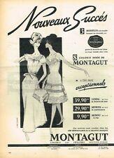 G- Publicité Advertising 1961 Lingerie nuisette Montagut