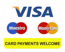 VISA MAESTRO MASTERCARD, CARD PAYMENT WELCOME, car, van decal sticker, business