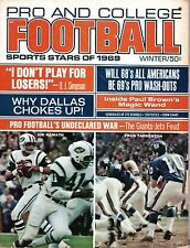 1969 Pro & College Stars Football, magazine, Joe Namath, Jets, Fran Tarkenton~Fr