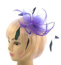 Violet avec noir coq plumes attache de bibi, Mariages, Courses ou Femmes Jour