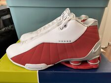 Brand New DS Nike Shox BB4 White/Silver-Varsity Red AT7843-101 Men's Size 11