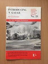 Vintage Railway Modeller Booklet No.21 - Introducing N Gauge by C.J. Freezer GC