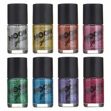 Holographic Glitter Nail Polish by Moon Glitter - 14ml - Set of 8 colours
