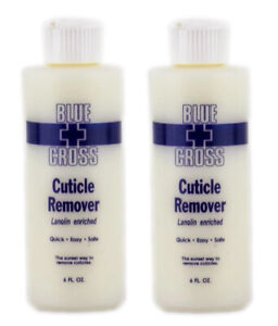 2 Bottles BLUE CROSS Nail Cuticle Remover Lanolin Enriched 6 fl oz FREE SHIPPING