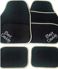Personalised Car Mats BEST DADDY Dad Christmas gift OR YOUR OWN TEXT Embroidered