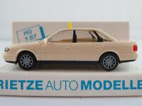 "Rietze 30660 Audi A6 Limousine (1994) ""TAXI"" in hellelfenbein 1:87/H0 NEU/OVP"