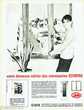 PUBLICITE ADVERTISING 026  1965  Gimm  menuiseries & placards Rangex