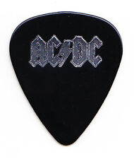 AC/DC Malcolm Young Black/Silver Foil Single-Sided Guitar Pick - 1990s Tours