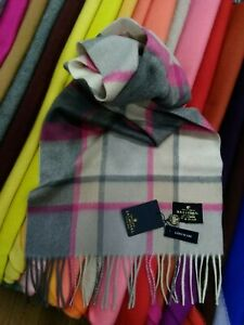100% Cashmere Scarf | House Of Balmoral | Old Town Mulberry | Long Scarf