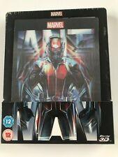 Ant-Man 3D Blu-Ray Lenticular Steelbook Zavvi UK Rare Import BRAND NEW