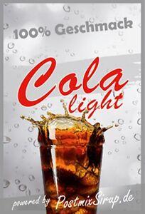 Cola-Light - Postmixsirup - Postmix - Sirup - Getränkesirup - 10l BiB (4,90€/L)
