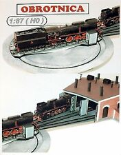 Railway turntable laser cut kit for model trains layout 1:87 HO