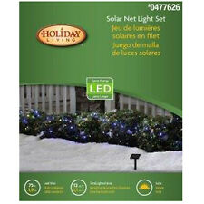 Holiday Living 3 x 4-ft Constant Multicolor 50 LED Solar Net Lights Christmas