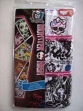 Monster High Girls Underwear Underpants 3 Pair Panty Pk Sz 6 NIP