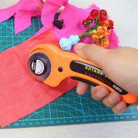 45mm Stoffschneider Rollschneider Patchwork-Cutter Edelstahl klingen Rundmesser