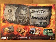 Mercenaries 2 Xbox 360 PS3 Playstation 3 2008 Vintage Poster Ad Art Print Rare