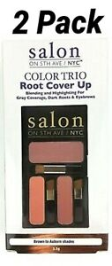 Salon on 5th Ave Color Trio Root Cover Up BROWN/AUBURN Blend & Highlight-2 Pack