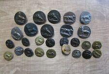 Anciens boutons de chasse .Vénerie.