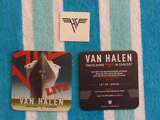 Van Halen Tokyo Dome In Concert Promotional Items 2 Drink Coasters & Temp Tattoo