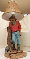 Florentine AP Studio Inc. 1985 Western Style Lamp Plaster Mountain Man Lamp